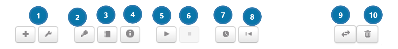 Configuration buttons