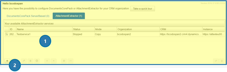 Online Configuration window