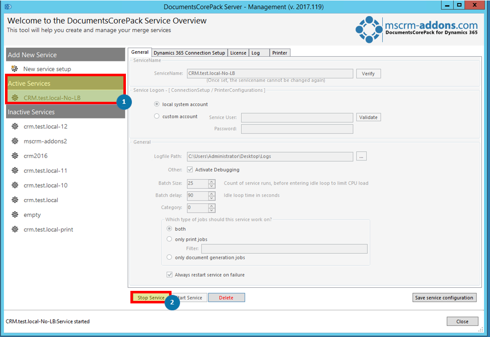 DocumentsCorePack ServiceManagement