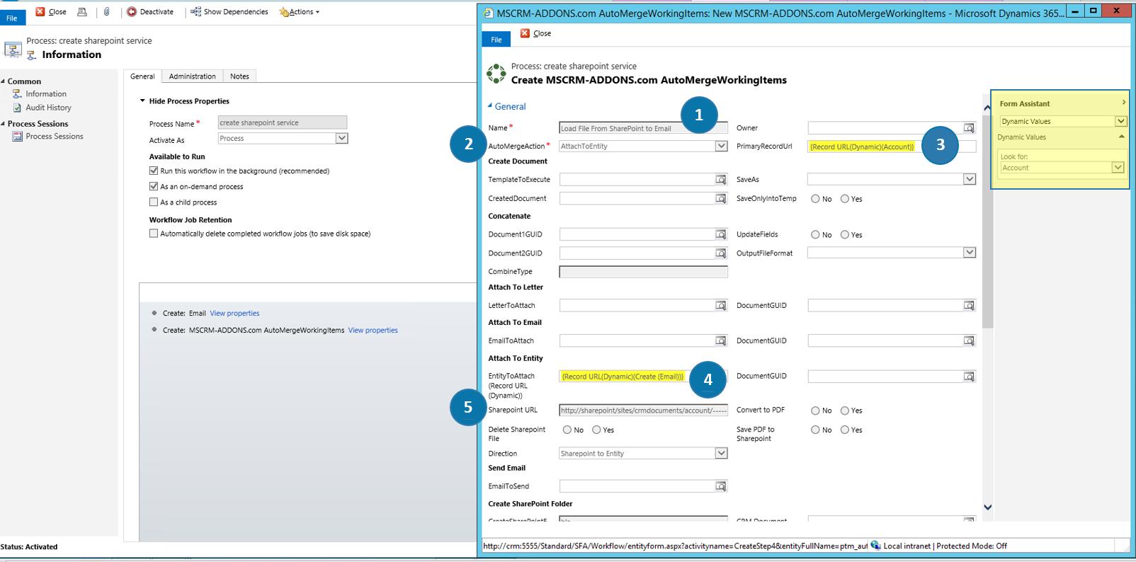 Create SharePoint service