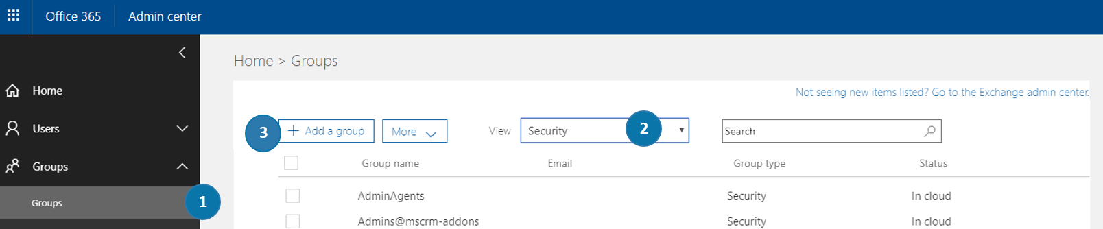 Office 365 - Security Groups