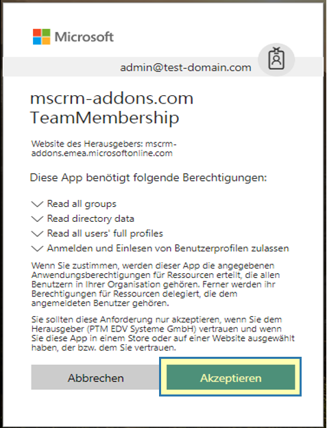 Accept TeamMember licensing