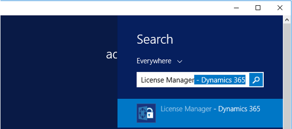 Start Pane – Search for License Manager