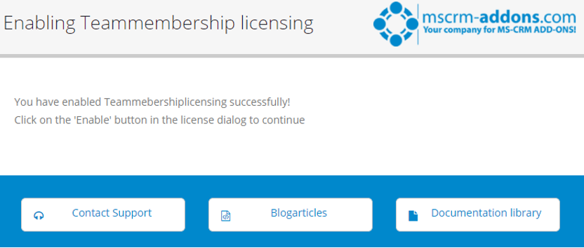 Enabling TeamMember licensing information