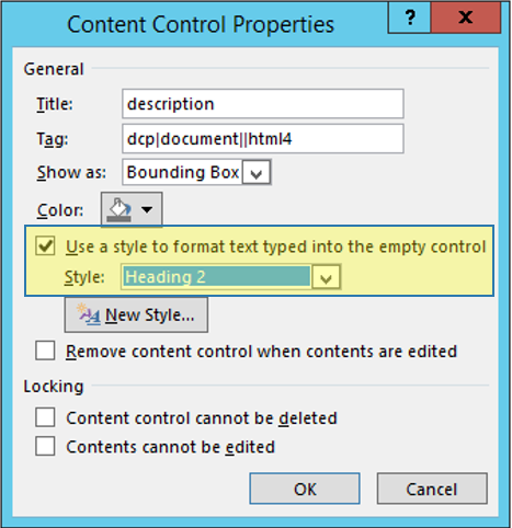 Content Control Properties