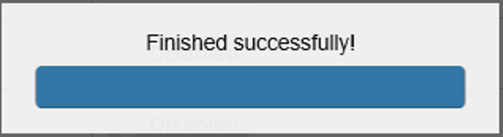 Success notification