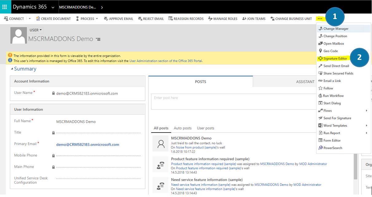 ActivityTools > Signature Editor