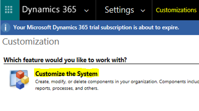 Customize the System