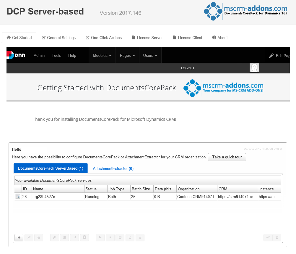 DCP - Get Started-page