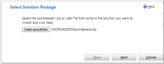 MSCRMADDONScomGeneral solution found but version too old