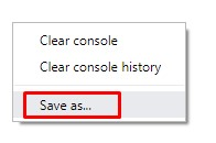 Chrome Console Save