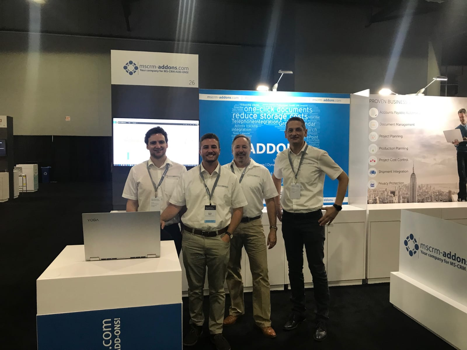 Our team at Microsoft Business Applications Summit 2019