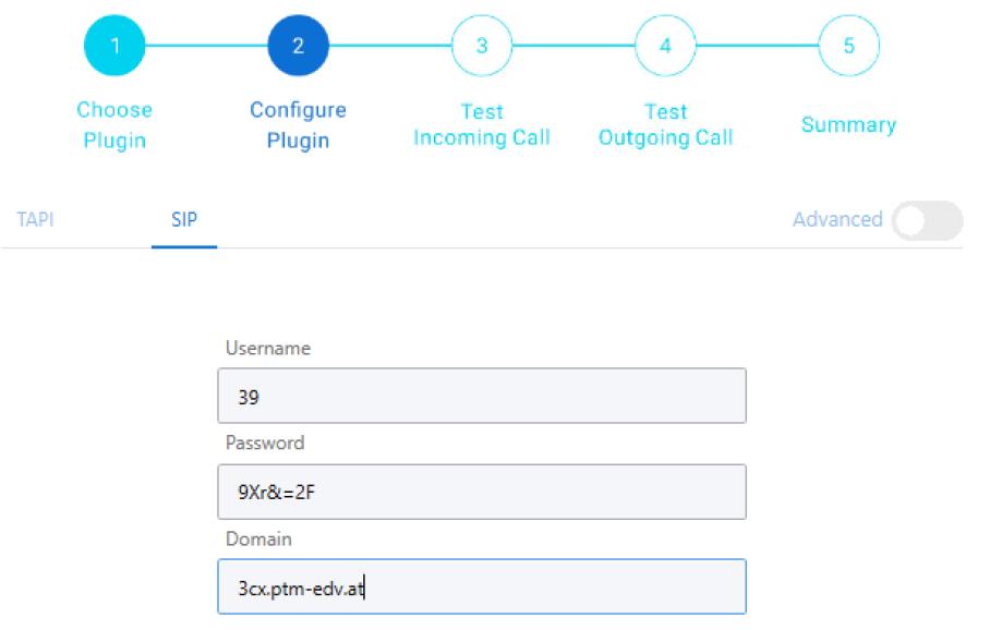Configure plugin via SIP