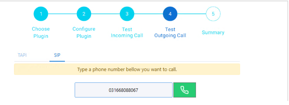 Test outgoing calls