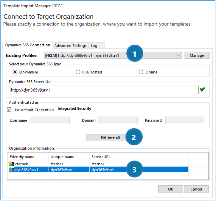 Connect to Target Organization