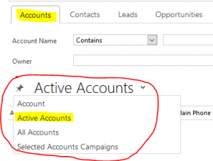 Active Accounts