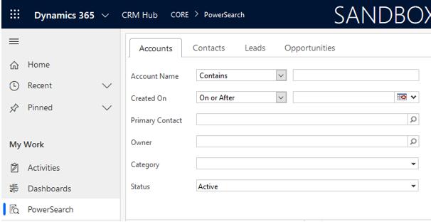 PowerSearch Plugin Core
