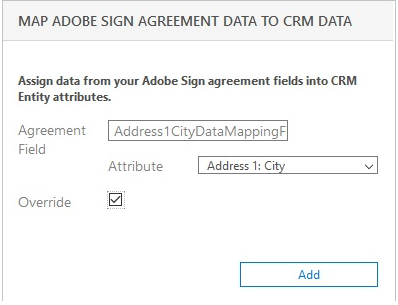 Map Adobe Sign Agreement Data