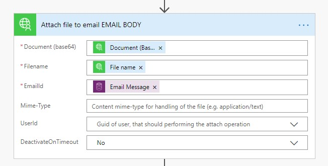 Attach Email Body
